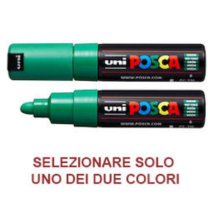Immagine di Marcatore UNI POSCA PC7M p.large 4,5-5,5mm verde