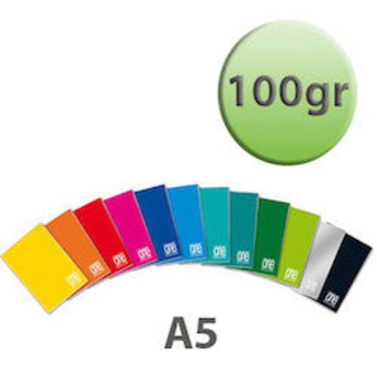 Immagine di Quaderno A5 One Color righe 3a elem. con margine 100gr