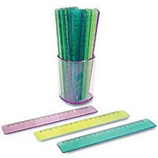 Immagine di Righello 17cm plastica colori assortiti